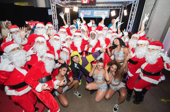 Jax Jones brought out santa's during his Jingle Bell Ball set 2018