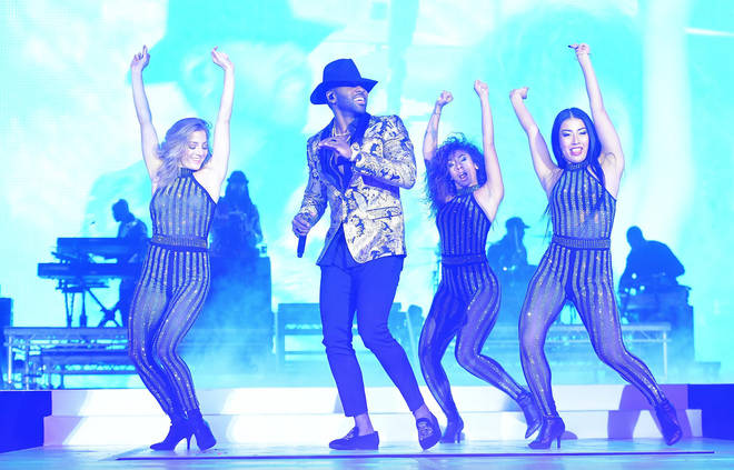 Jason Derulo on stage at the Jingle Bell Ball 2018
