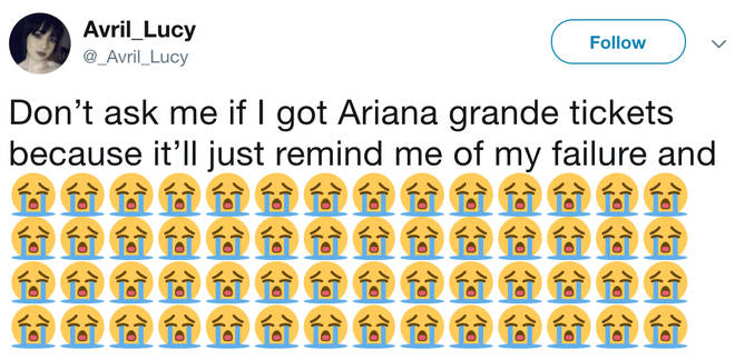 Many fans were unsuccessful in their quest for Ariana Grande tickets