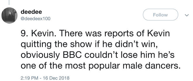 Thread claims Strictly Come Dancing fixed who won the show