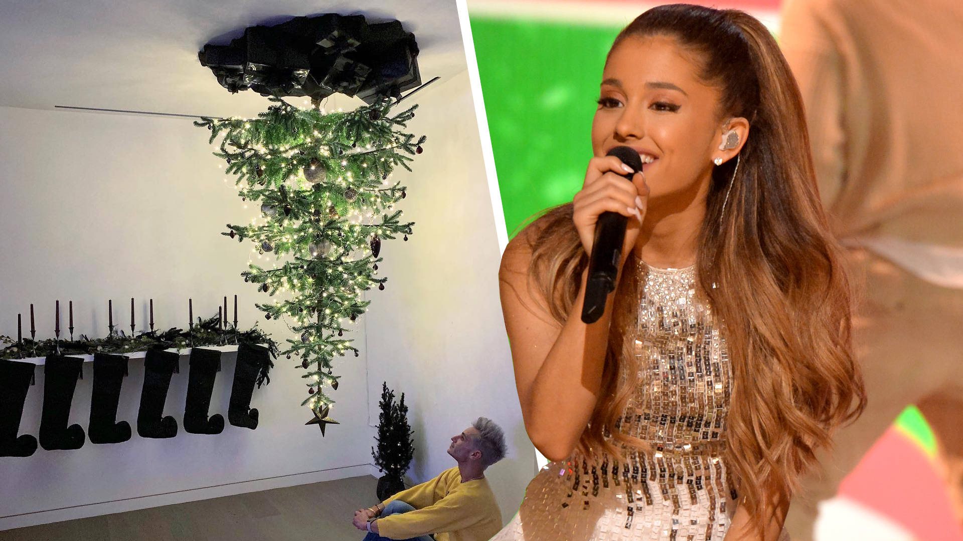 Ariana Grande Is Bringing Back Her Upside Down Christmas Tree
