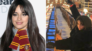Camila Cabello visited the Harry Potter set & acted out a scene