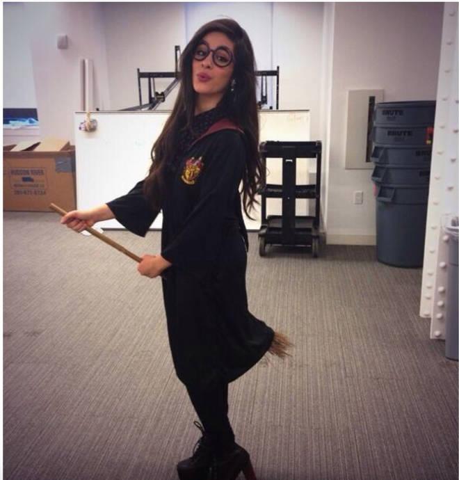 Camila Cabello dresses up as Hogwarts student