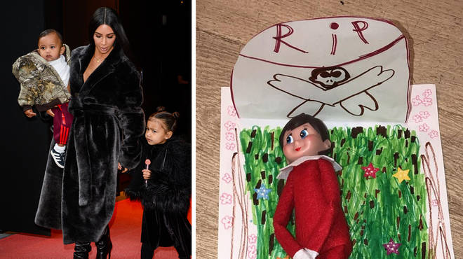 The Kardashian-West family lost an elf in the 'Elf On The Shelf' game