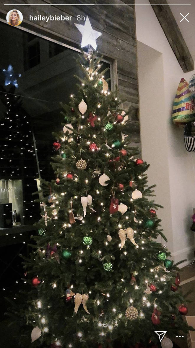 The Bieber's first Christmas tree