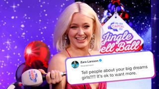 Zara Larsson encouraged women and girls to dream big