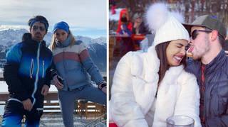 Priyanka Chopra, Nick Jonas, Joe Jonas, and Sophie Turner go skiing in Switzerland