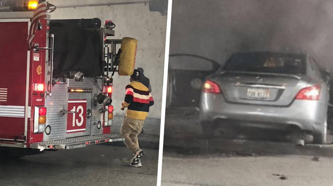 Chance The Rapper saves a man from a burning car