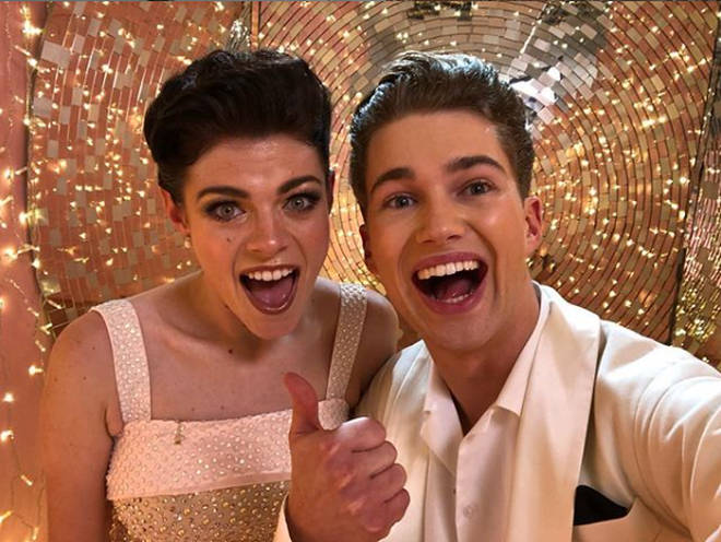 AJ Pritchard with his most recent Strictly partner, Lauren Steadman.