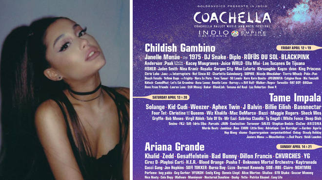 Ariana Grande has been confirmed as the headliner of Coachella 2019.