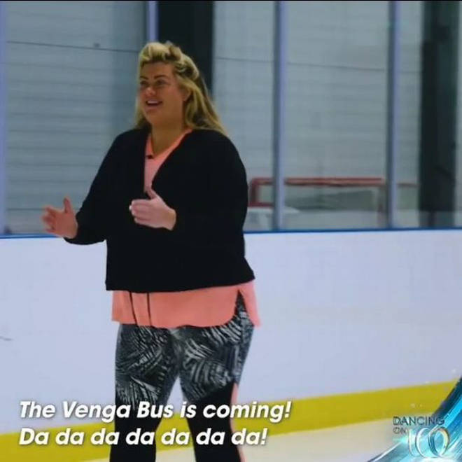 A convinced Gemma Collins shows off her best dance moves
