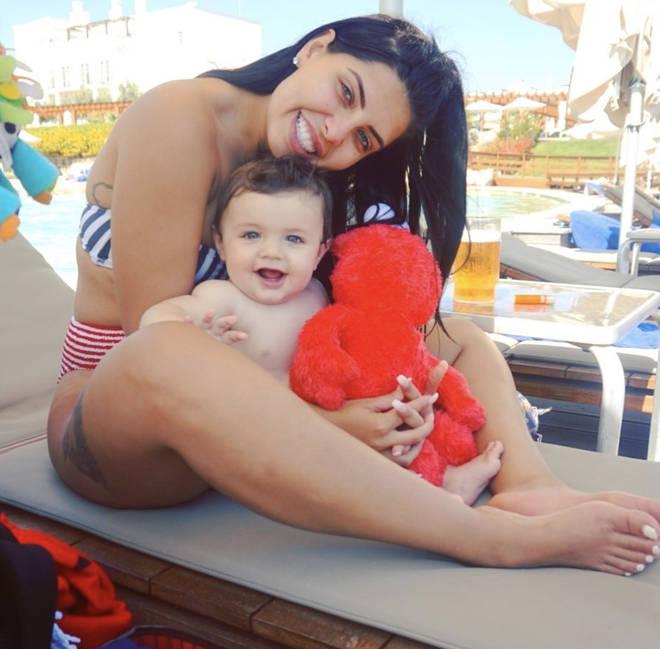 Cara De La Hoyde and Nathan Massey's baby boy Freddie-George