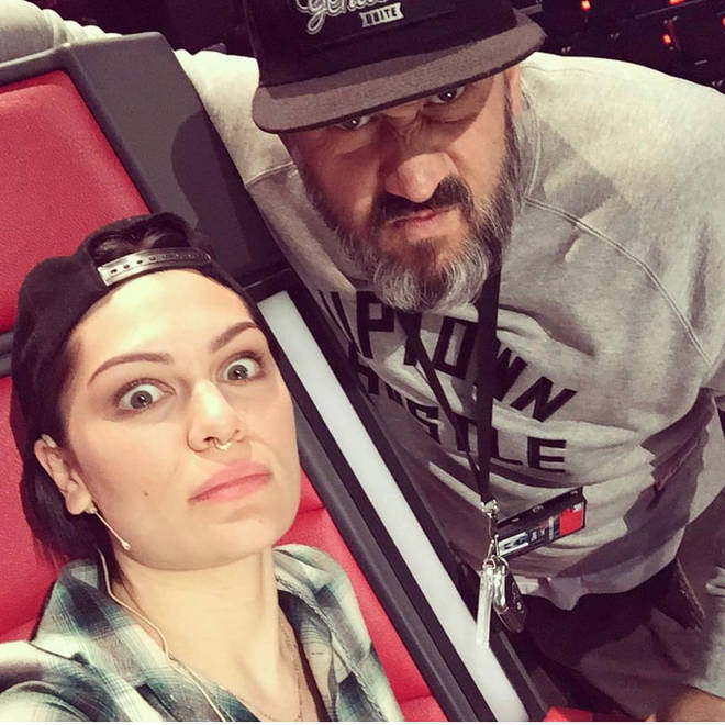 Jessie J and her long time security guard, Dave, who recently passed away