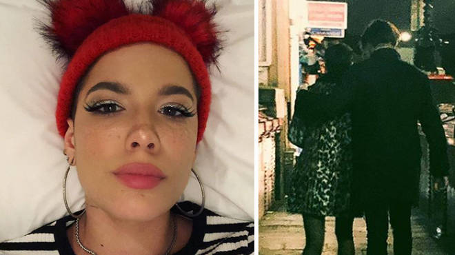Halsey seems loved up with her new man.