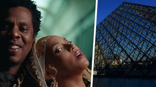 Beyonce and Jay Z in The Louvre, Paris