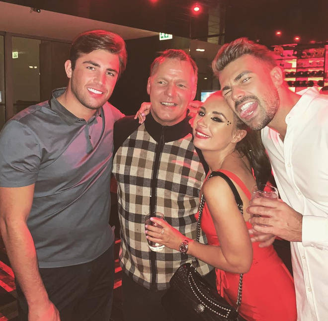 Jack Fincham's dad partying with him, Dani and Love Island cast