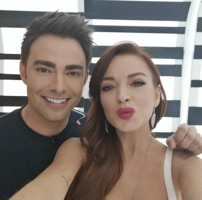Lindsay Lohan and Mean Girls cast member Jonathan Bennett aka Aaron Samuels recently met up.
