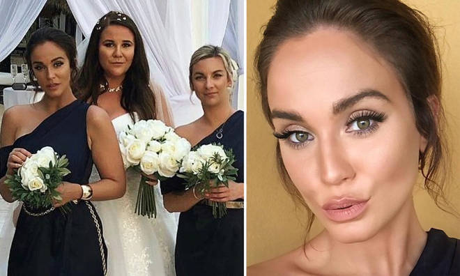 Geordie Shore's Vicky Pattison has been criticised for 'blocking the bride' in a photograph.