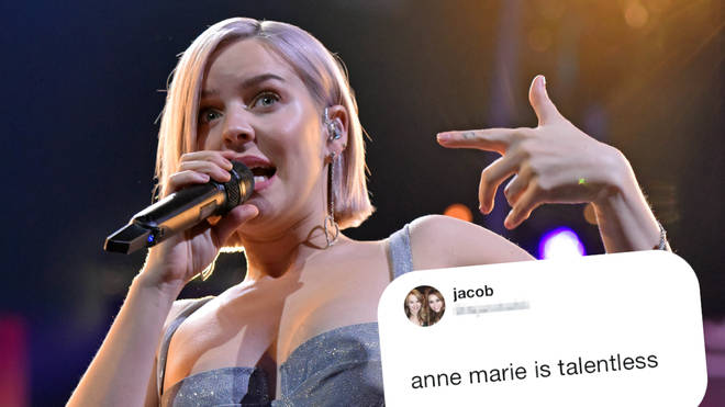 "Anne-Marie responded to an online troll who referred to her as ""talentless""."