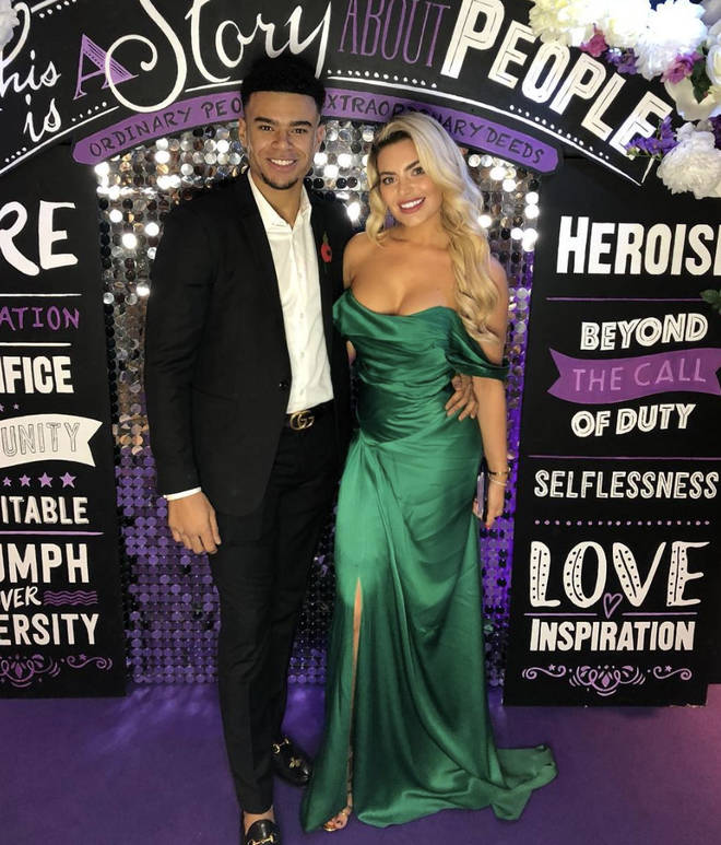 Megan Barton-Hanson and Wes Nelson pose together at the Pride Of Britain Awards