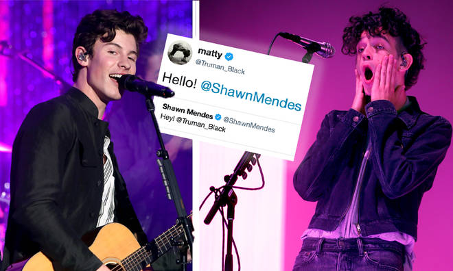 Shawn Mendes & Matty Healy chatting on Twitter sparks collaboration rumours