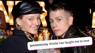 James McVey announced his engagement to Kirstie Brittain