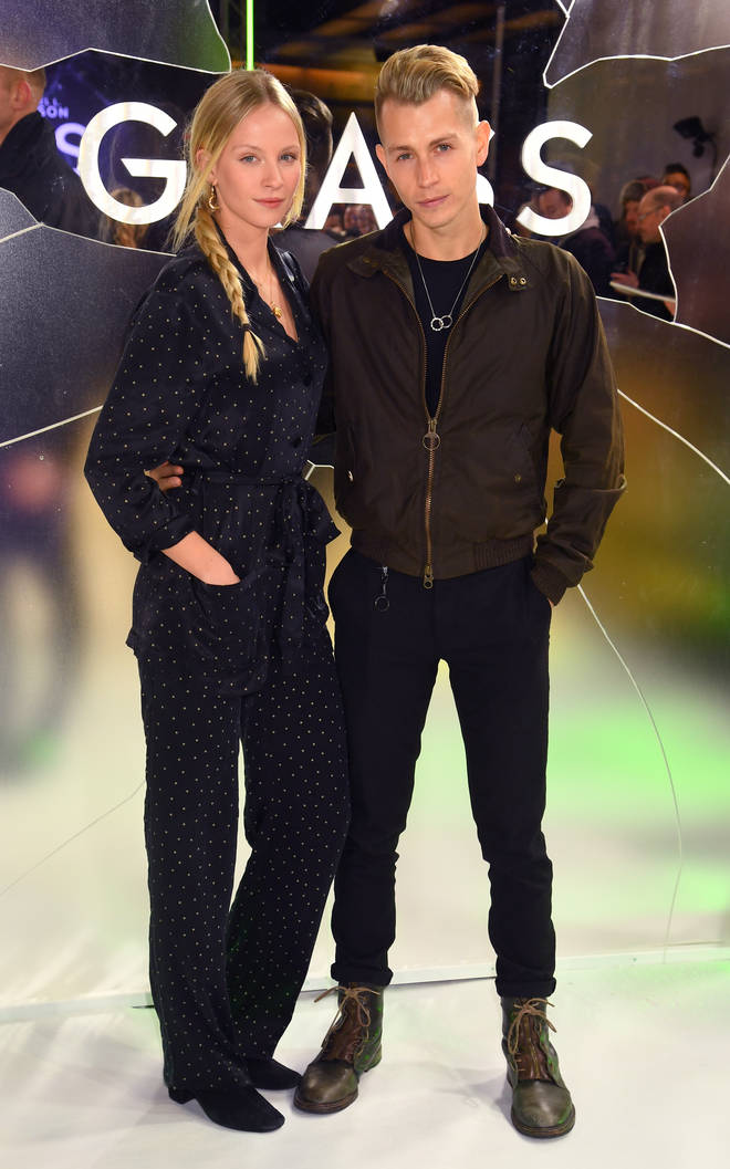 Kirstie Brittain and James McVey attend the European Premiere of 'Glass'