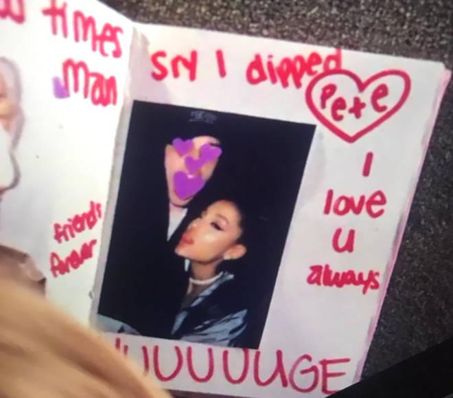 Ariana writes 'huuuge' on Pete Davidson's 'thank u, next' burn book page