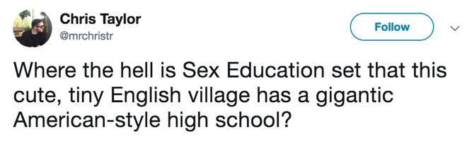 Sex Education was filmed in South Wales but features enormous American high school