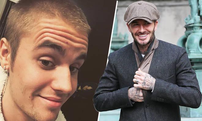 Justin Bieber trolled David Beckham in hilarious Instagram throwback