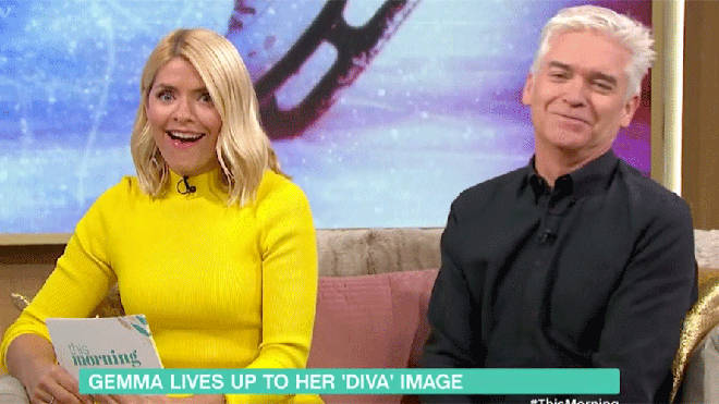 Holly Willoughby and Phillip Schofield commented on The GC's professionalism