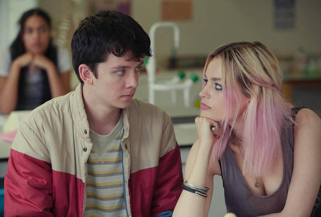 Asa Butterfield stars alongside Emma Mackey in Netflix's Sex Education