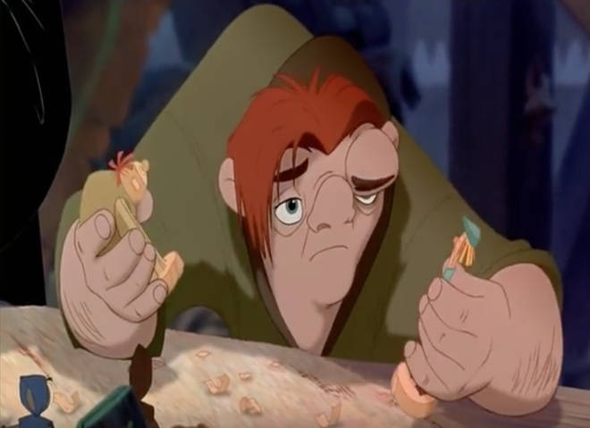 The Hunchback of Notre Dame animated film.