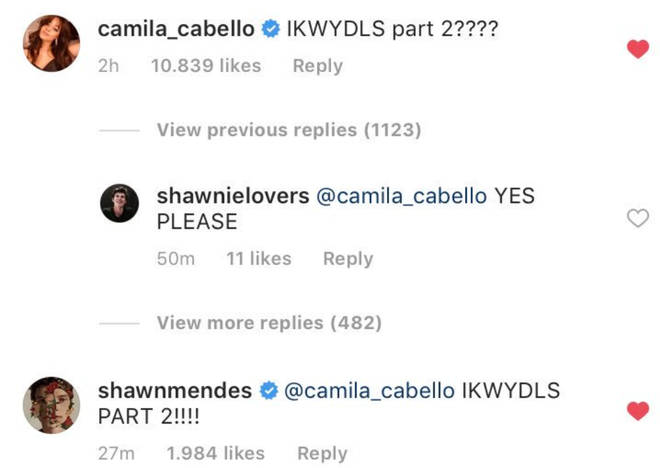 Shawn Mendes and Camila Cabello tease 'IKWYDLS2'