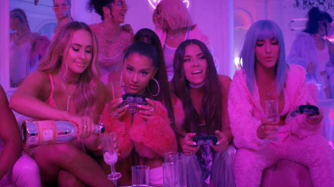 Ariana Grande throws a house party in her '7 rings' video
