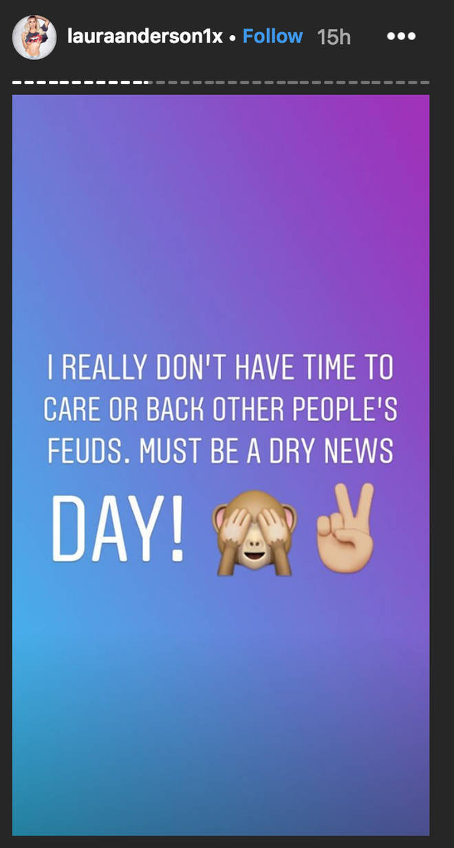 Laura Anderson posts cryptic Instagram about 'other people's feuds' after unfollowing Wes & Megan