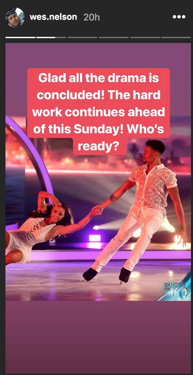 Wes Nelson gets hyped ahead of Dancing On Ice performance now 'drama is concluded'