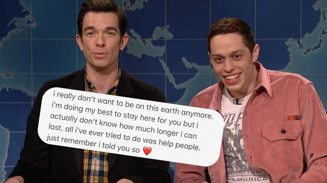 Pete Davidson joked about his suicide during his appearance on SNL