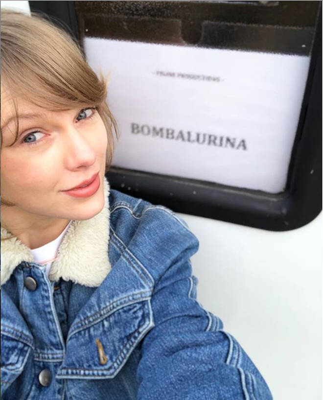 Taylor Swift shared a photo of her trailer.