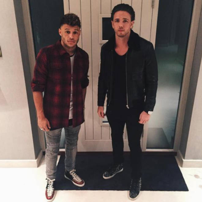 Bradley Churchill is good friends with Perrie Edwards' boyfriend, Alex Oxlade-Chamberlain