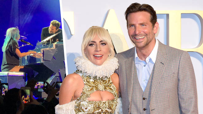 Lady Gaga invited Bradley Cooper to join her to sing 'Shallow' on stage
