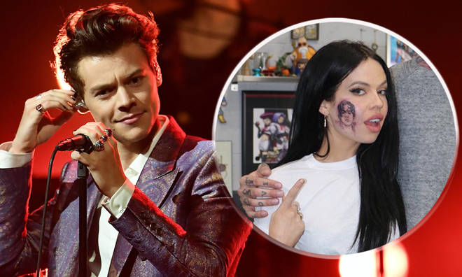 Harry Styles fan just got his face tattooed on her cheek