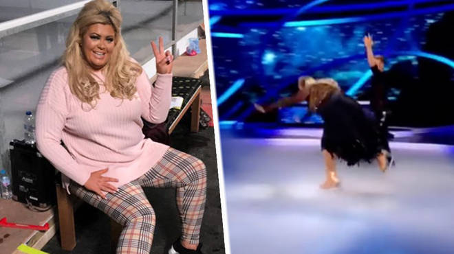 Gemma Collins suffered a dramatic fall on Dancing On Ice.