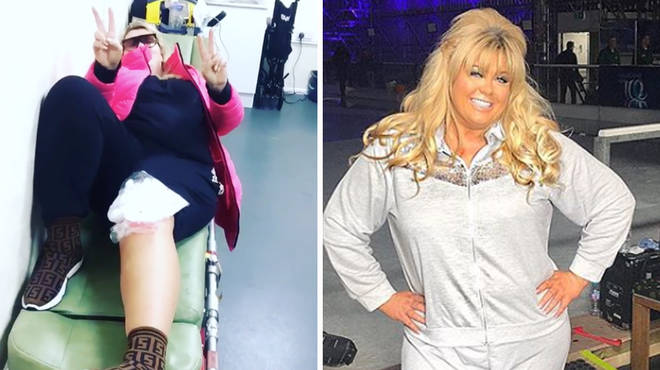Gemma Collins denied she faked her fall.