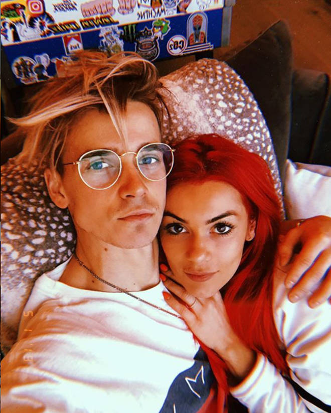 Joe Sugg and Dianne Buswell are huge fans of a PDA, apparently.