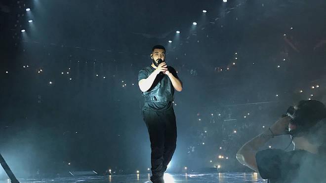 Drake performing on tour.