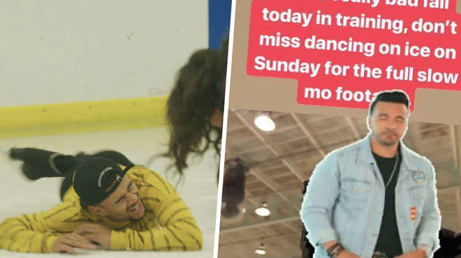 Wes Nelson took a dramatic fall during training for Dancing On Ice.