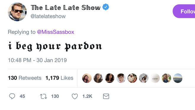 The Late Late Show reply to Taylor Swift Carpool Karaoke speculation