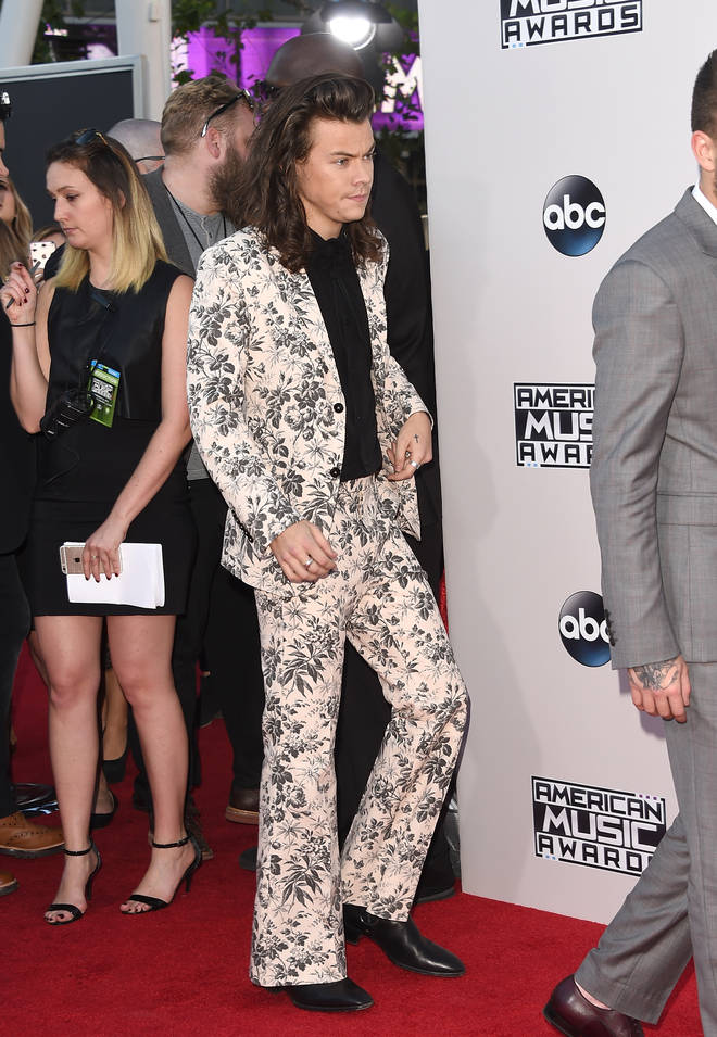 Harry Styles floral suit back in 2015