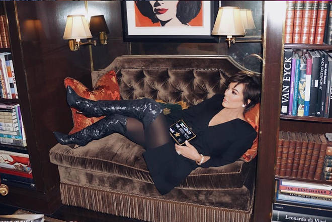 Kris Jenner knows how to lounge, apparently.